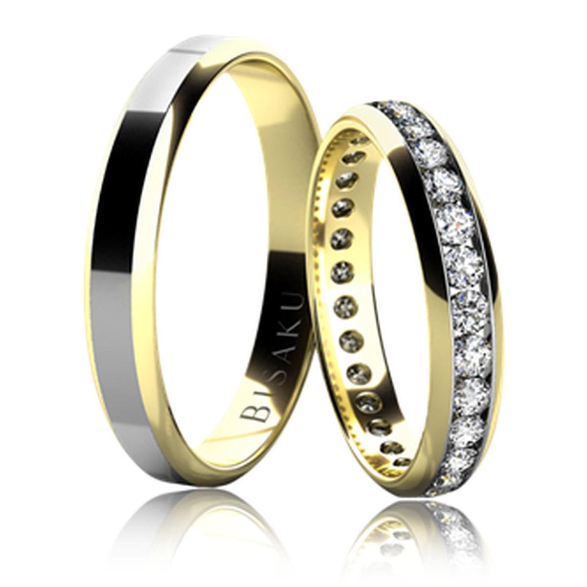 snubní prsten bílé zlato
