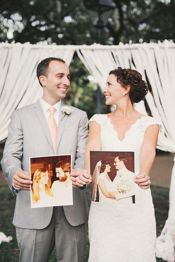 Nápady na svatební fotky s rodiči - svatební fotky rodičů
