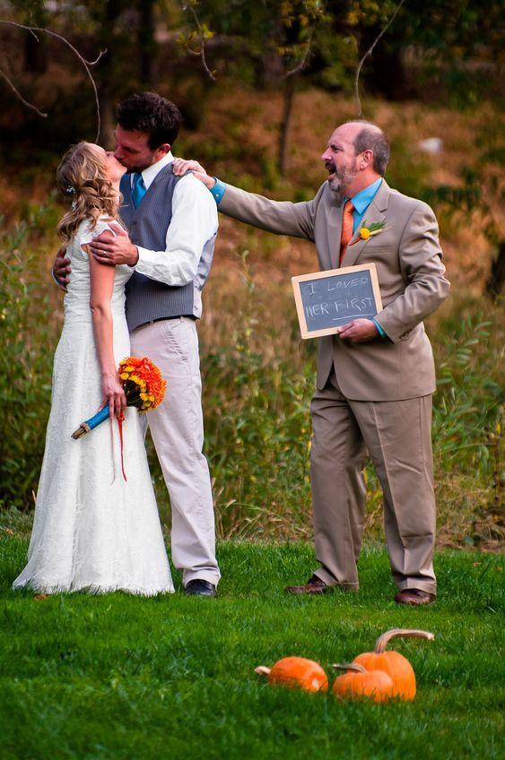 Nápady na svatební fotky s rodiči - táta