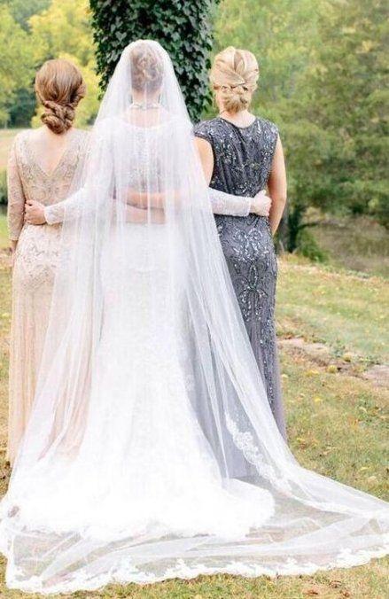 Nápady na svatební fotky s rodiči - maminka a tchýně