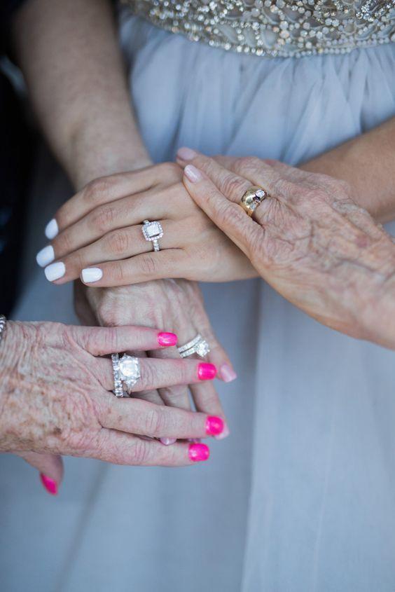 Nápady na svatební fotky s rodiči - ženská linie