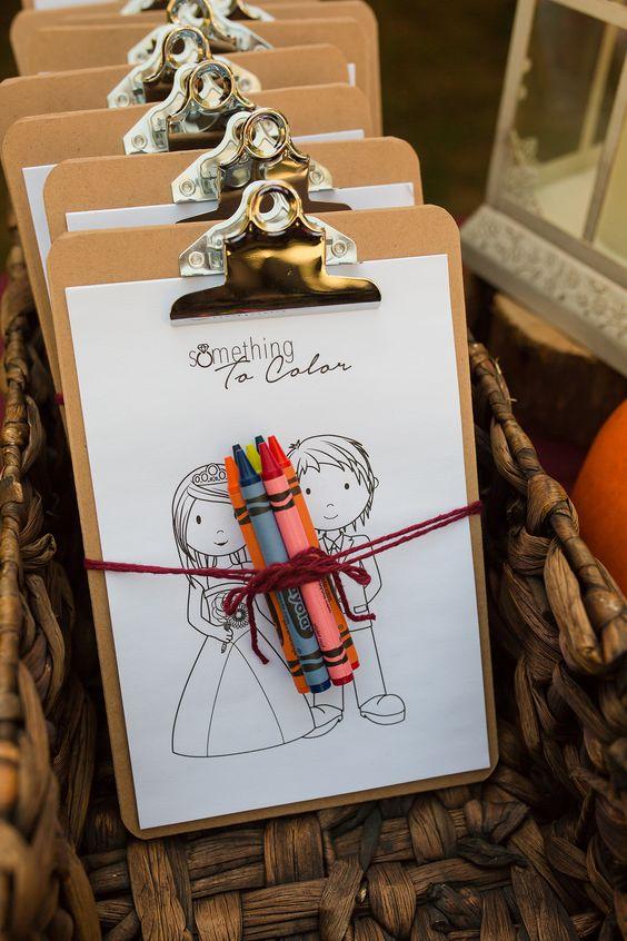Pohodová svatba s dětmi - omalovánky