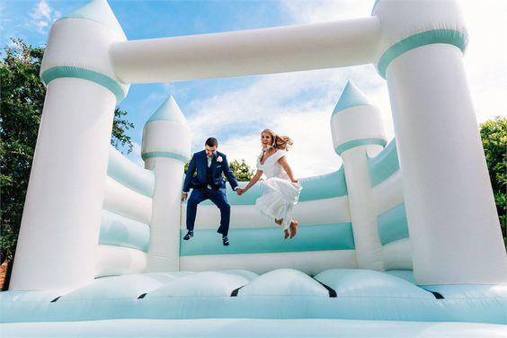 Pohodová svatba s dětmi - trampolína