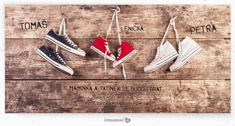 rodinné svatební oznámení boty