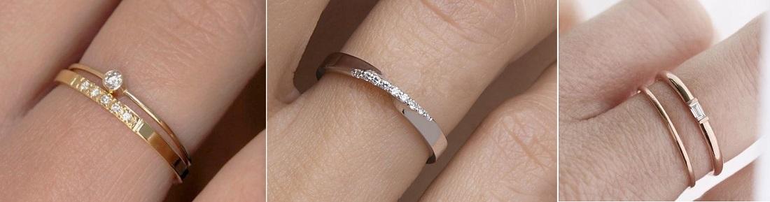 Minimalistické snubní prsteny