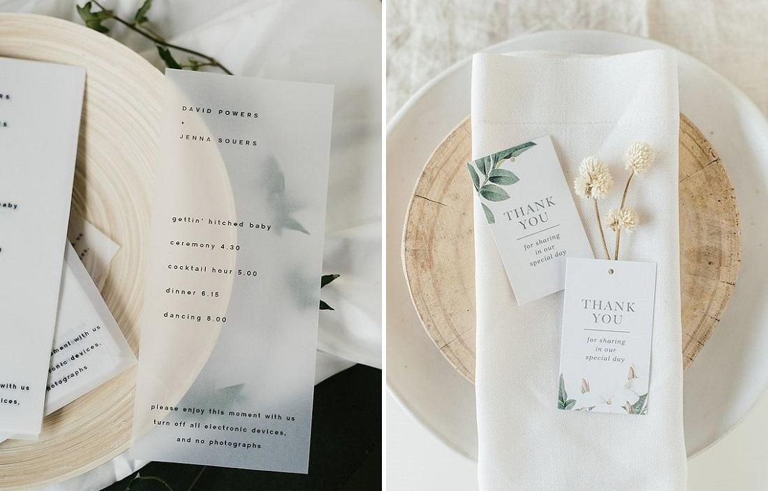 Minimalistické svatební oznámení