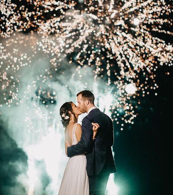 Svatba svatební hry ohňostroj
